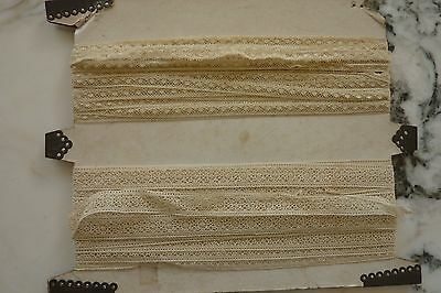 Vntg  Lot of 2 Lace edging Antique Crochet trim Victorian doll 5 yds