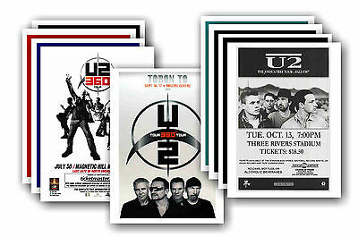 U2  - 10 promotional posters - collectable postcard set # 1