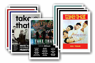 TAKE THAT  - 10 promotional posters - collectable postcard set # 1