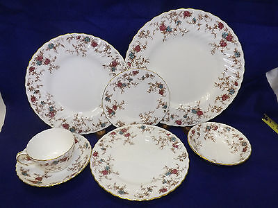 Minton Ancestral 83 pc Dinnerware Set service for 12 less one dinner plate