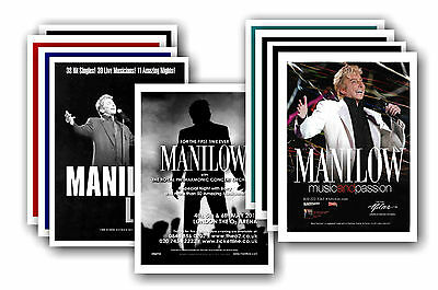 BARRY MANILOW  - 10 promotional posters - collectable postcard set # 3