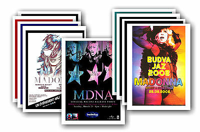 MADONNA  - 10 promotional posters - collectable postcard set # 2
