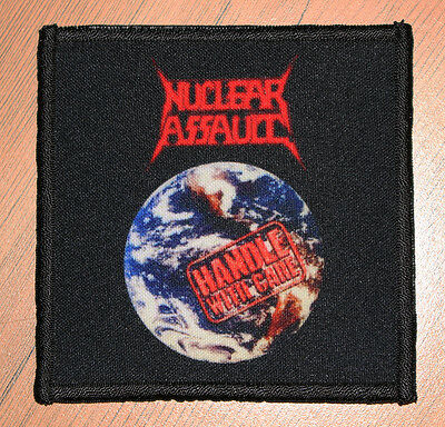"NUCLEAR ASSAULT ""HANDLE WITH CARE"" silk screen PATCH"