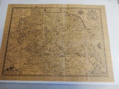 OLD map of YORKSHIRE as of 1610
