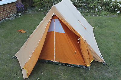 Vintage Vango 1970s Retro camping Tent  Canvas glamping festival 2-3 man
