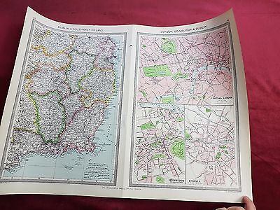"Antique Map 1906..""DUBLIN & South East IRELAND"".."