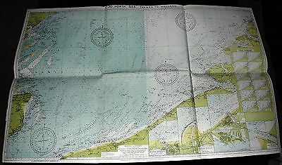 1950 IMRAY, LAURIE Nautical Maritime Chart Ship's Map - NORTH SEA - NORMANDY