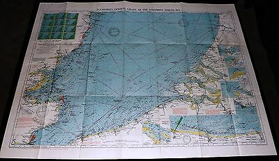 1951 Stanford's Nautical Maritime Chart Ship's Map - EAST ENGLAND To HOLLAND