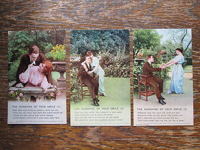 THE SUNSHINE OF YOUR SMILE - BAMFORTH SERIES 4805/4814 Nos 1,2 & 3 (1910s)