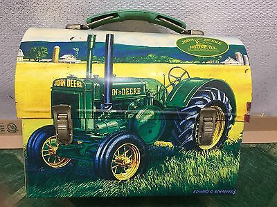Licensed John Deere Promtional Metal Lunch Box--Spring Time Tractor