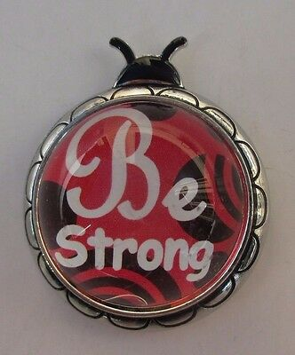 aa Be strong inspirational message LADYBUG MESSAGE FIGURINE courage ganz