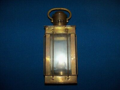 Antique Or Vintage Brass Maritime Marine Nautical Ships Lantern Lamp Light