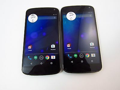 Lot of 2 LG Nexus 4 (E960) (Unknown Carrier) (Check ESN)_C12