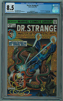 Doctor Strange #1 Cgc 8.5 High Grade Off-White To White Pgs 1974
