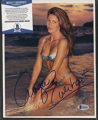 Angie Everhart Signed 8x10 Photo Beckett BAS COA AUTO Autograph