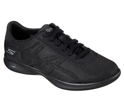 14488 Black Skechers Shoes Go Step Light Women Casual Comfort Sport Walk Lace Up