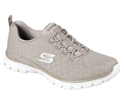 23412 Taupe Skechers Shoe  Memory Foam Women Sporty Bungee Comfort Casual Slipon