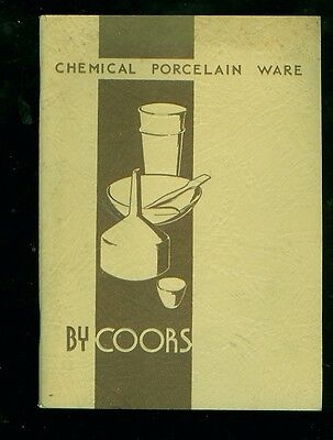 1936 Coors Chemical Porcelain Ware 56-page catalog