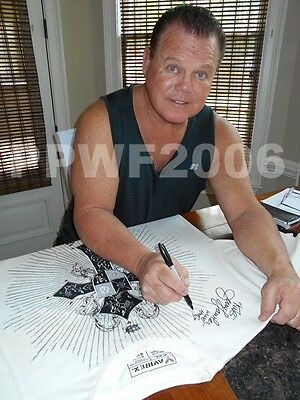 Wwe Jerry The King Lawler Ring Worn Hand Signed T-Shirt With Exact Proof Coa 3