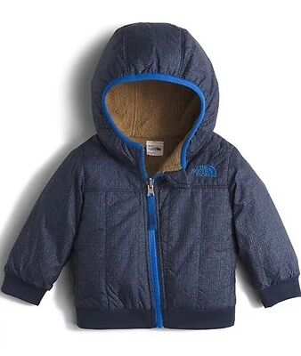 NWT NEW The North Face Boys Coat Size 3-6 Months Reversible Yukon Hoody