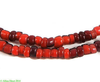 Whitehearts Venetian Trade Beads Red Old African SALE WAS $26.95