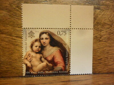 VATICAN stamp 500 years of the Madonna Sistina 2012 Holy Lady