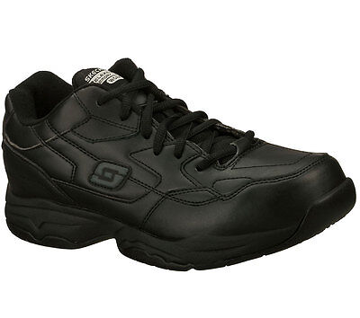 77032 Black Skechers Shoe Memory Foam Work Men Comfort Casual Slip Resistant New