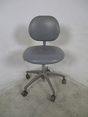 """Adec 1620 Dental Assistant Stool w/ 18-24"""" height adjustment & Blue Upholstery"""