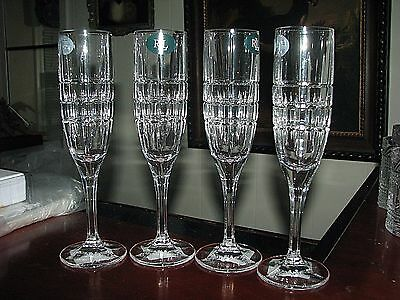 "Set of (4) RALPH LAUREN ""Cocktail Party"" Crystal Champagne/ Wine Glasses/ Flutes"