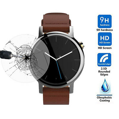 Tempered Glass Screen Protector Film for Motorola Moto 360 SmartWatch 42mm/46mm