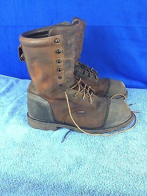 Red Wing 4499 Steel Toe Metatarsal Brown Leather Work Safety Boots Men's 14 D
