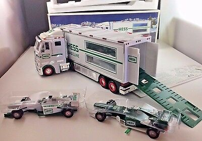 2003 Hess Toy Truck and Indy Race Cars Brand New in Box