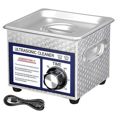 Stainless Steel 60W 1.3L Industry Digital Ultrasonic Cleaner Dimmable w/Timer