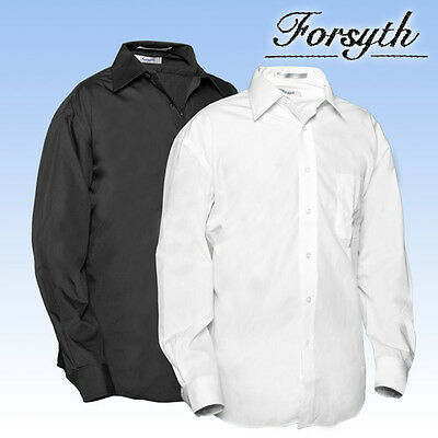 Men's Forsyth Ultimate Performance 2XL Long-Sleeve Button-Down Shirt: BLACK ONLY