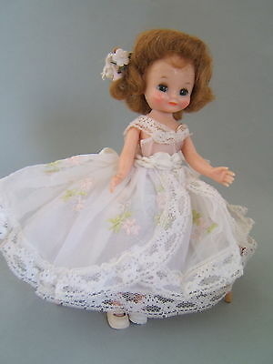 "Vintage 50's Betsy McCall 8"" Doll in White Formal Gown"