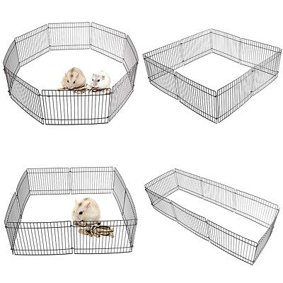 Folding Dog Animal Guinea Small Pig /Rabbit /Hamster Garden Play Pen Metal Fence