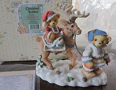Cherished Teddies SVEN AND LIV Paths Lead To Kindness Friendship Figurine 272159