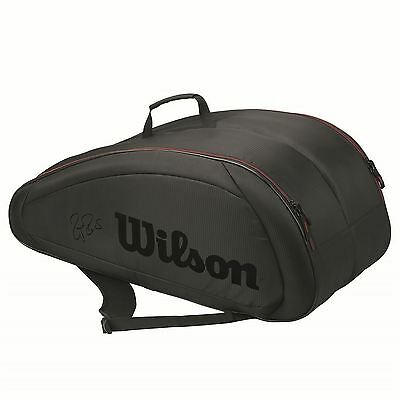 Wilson Fed Team 12 Pack Racket Bag Playing Training Rackets Accessories
