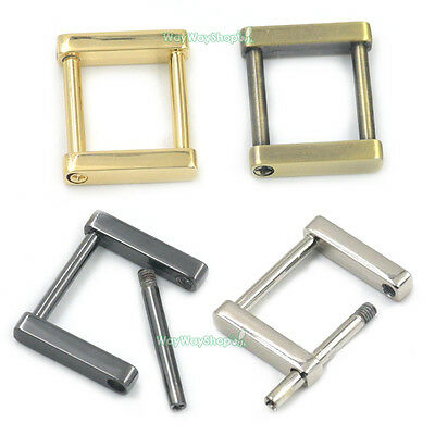 "1"" 25mm Rectangle Dee Ring Detachable Removable Webbing Buckle Strap Square Bags"