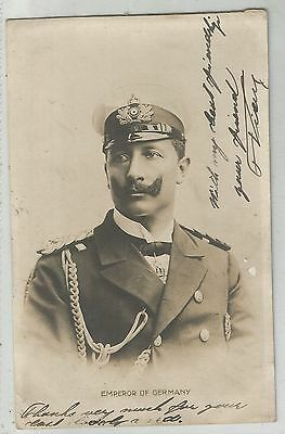 m royalty royal family people postcard emperor of germany