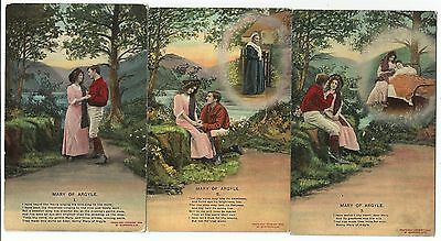 m military 3 postcard s england world war one song cards WW1