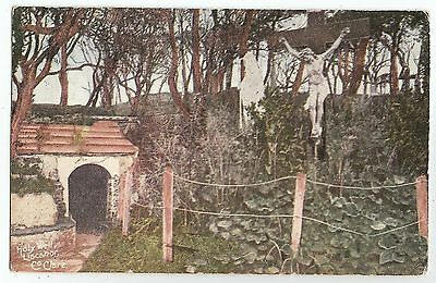 m irish postcard ireland clare liscanor holy well