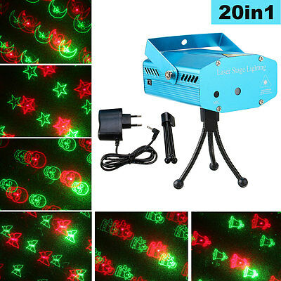 20 in1 Mini LED R&G Laser Stage Light Projector Party Disco KTV Lighting Effect