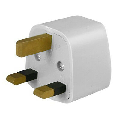 Universal US To UK 3 Pin Travel AC Power Adapter Plug 250V AC 10A New White