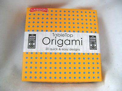 New Tabletop Origami 20 Quick Easy Designs 80 Sheets Plane Giraffe Pig Lagoon
