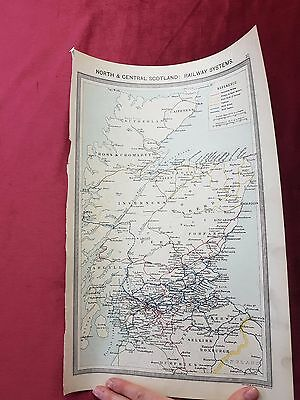 "Antique Map 1906..""The North & Central Scotland RAILWAY SYSTEMS""..."