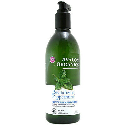 Avalon Organics Revitalizing Peppermint Glycerin Hand Soap 355ml