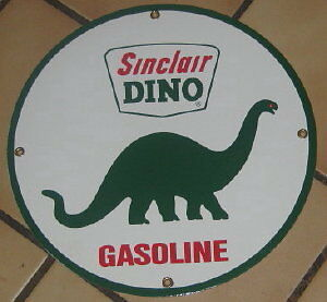 Sinclair  Dino Porcelain Overlay Metal Sign  Nr