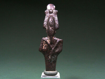 Ancient Figure Of Osiris Bronze Egyptian Late Period 712-30 Bc
