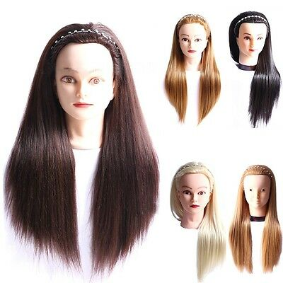 Salon Cosmetology Hair Hairdress Updo Practicing Train Hair Head Mannequin+Clamp